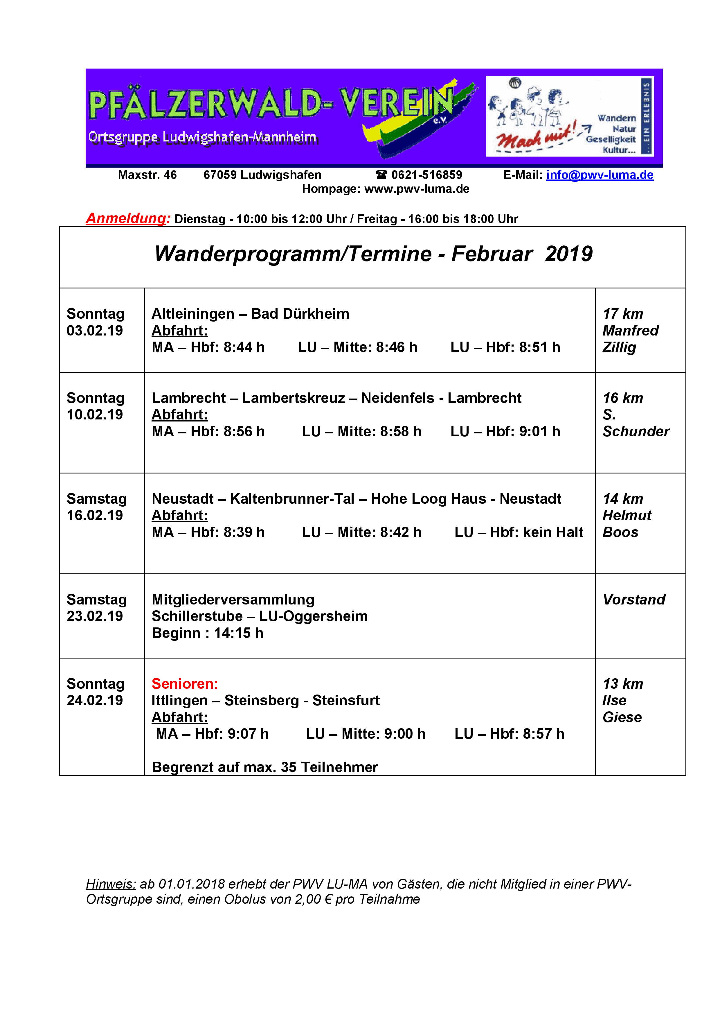 Wanderinformation Februar_2019